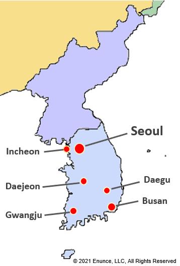 Korean cities